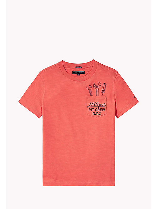 TOMMY HILFIGER Fun Pocket T-Shirt - CAYENNE - TOMMY HILFIGER T-shirts & Polos - main image