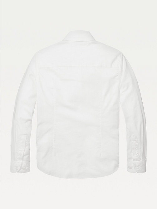 TOMMY HILFIGER Stretch Oxford Shirt - BRIGHT WHITE - TOMMY HILFIGER Shirts - detail image 1