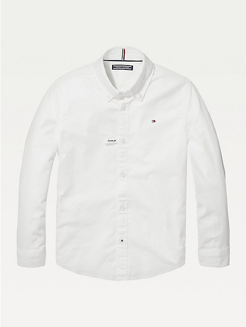 TOMMY HILFIGER Oxford overhemd met stretch - BRIGHT WHITE - TOMMY HILFIGER Overhemden - main image