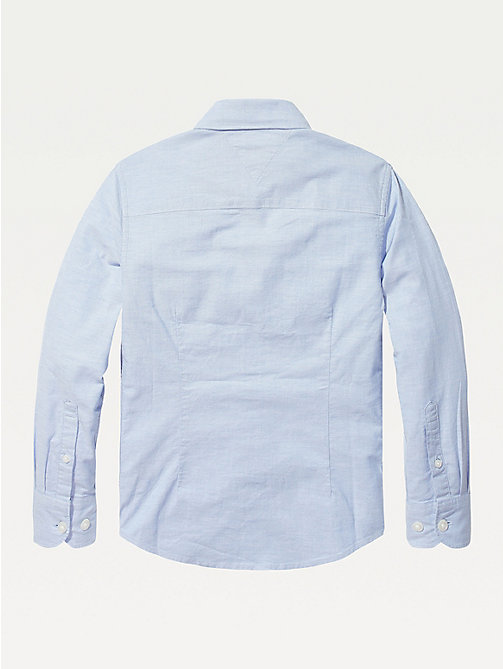 TOMMY HILFIGER Stretch Oxford Shirt - SHIRT BLUE - TOMMY HILFIGER Shirts - detail image 1