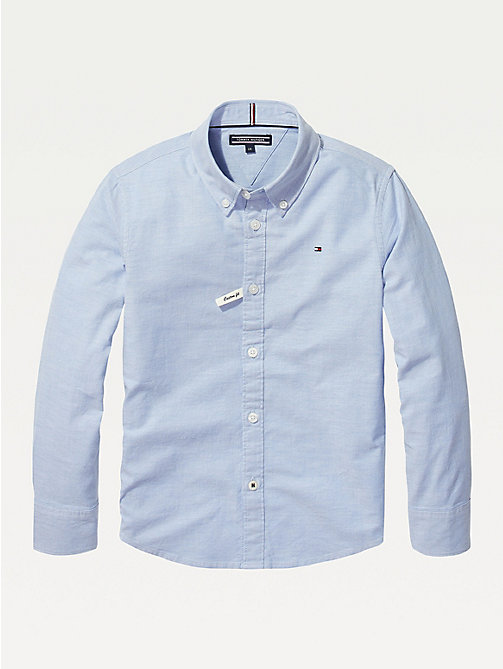 TOMMY HILFIGER Stretch Oxford Shirt - SHIRT BLUE - TOMMY HILFIGER Shirts - main image