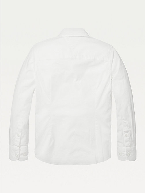 TOMMY HILFIGER Slim fit overhemd met stretch - BRIGHT WHITE - TOMMY HILFIGER Overhemden - detail image 1