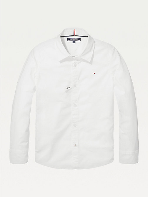 TOMMY HILFIGER Slim fit overhemd met stretch - BRIGHT WHITE - TOMMY HILFIGER Overhemden - main image