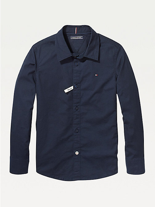 TOMMY HILFIGER Slim fit overhemd met stretch - SKY CAPTAIN - TOMMY HILFIGER Overhemden - main image