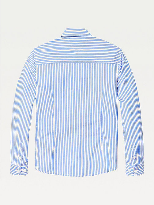 TOMMY HILFIGER Stripe Oxford Shirt - SHIRT BLUE - TOMMY HILFIGER Shirts - detail image 1