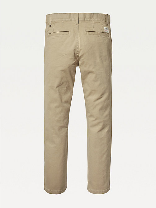 TOMMY HILFIGER Slim Fit Chinos - BATIQUE KHAKI - TOMMY HILFIGER Trousers & Shorts - detail image 1