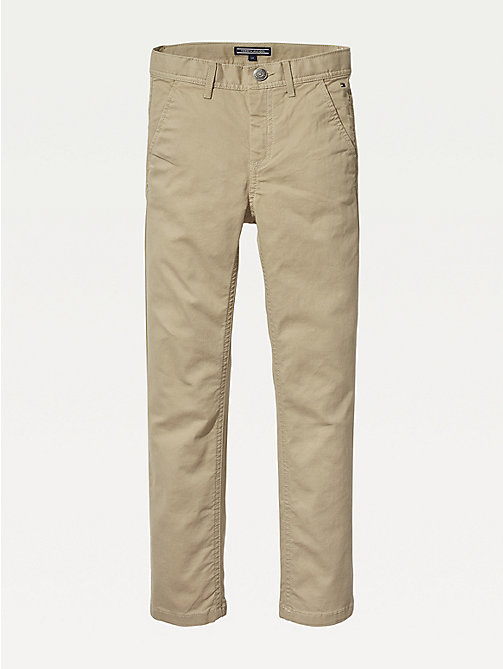 TOMMY HILFIGER Slim Fit Chinos - BATIQUE KHAKI - TOMMY HILFIGER Trousers & Shorts - main image