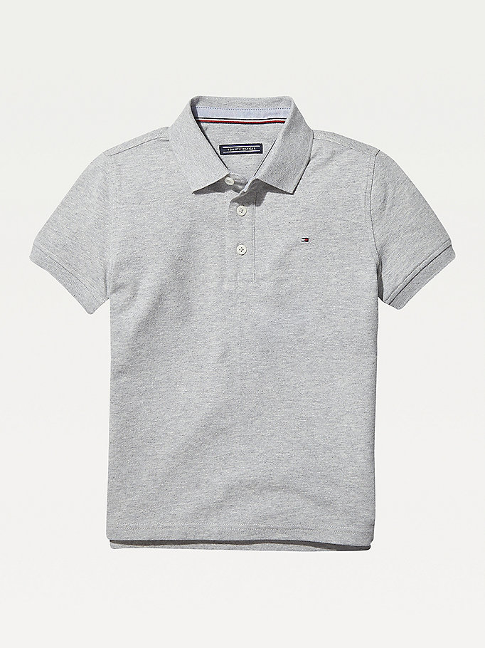 TOMMY HILFIGER Organic Cotton Polo Shirt - BRIGHT WHITE - TOMMY HILFIGER Kids - main image