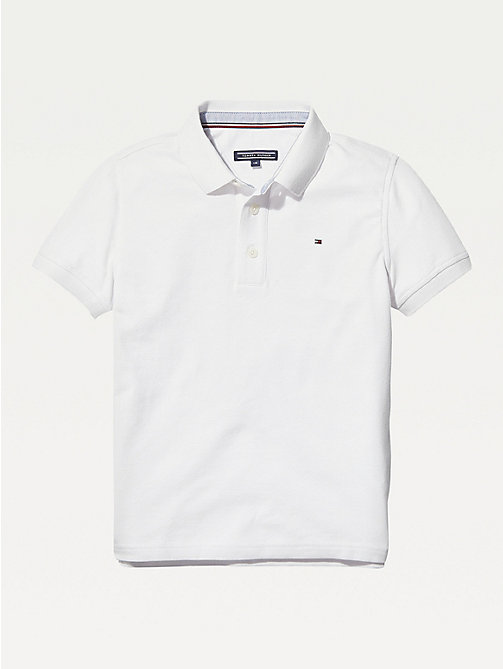 TOMMY HILFIGER Organic Cotton Polo Shirt - BRIGHT WHITE - TOMMY HILFIGER T-shirts & Polos - main image