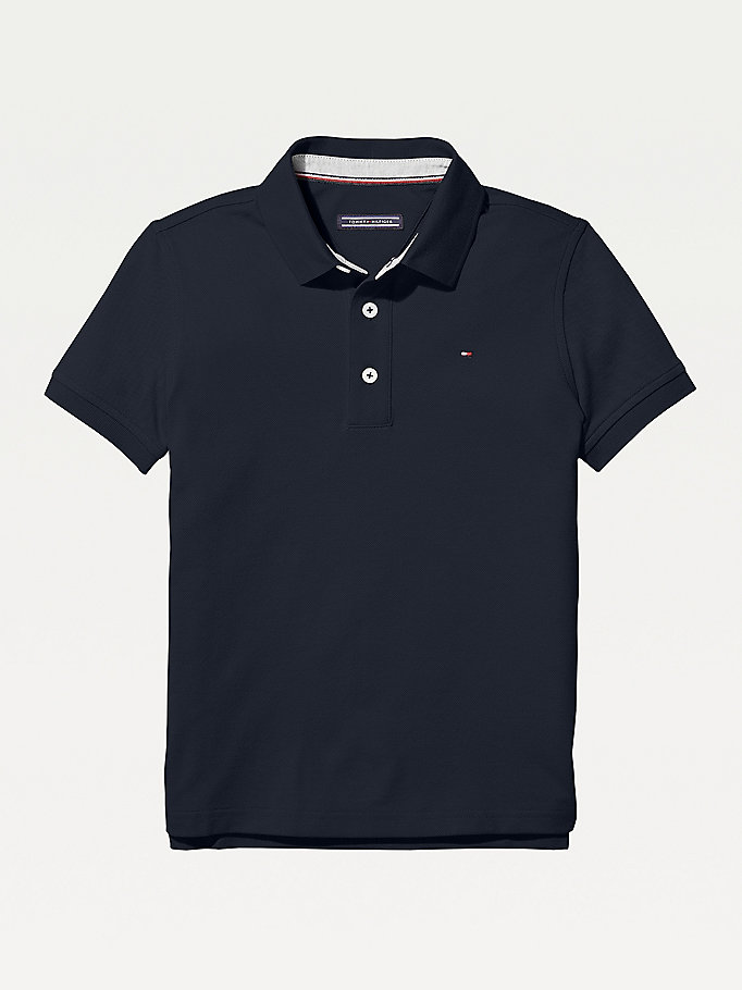 TOMMY HILFIGER Organic Cotton Polo Shirt - APPLE RED - TOMMY HILFIGER Kids - main image