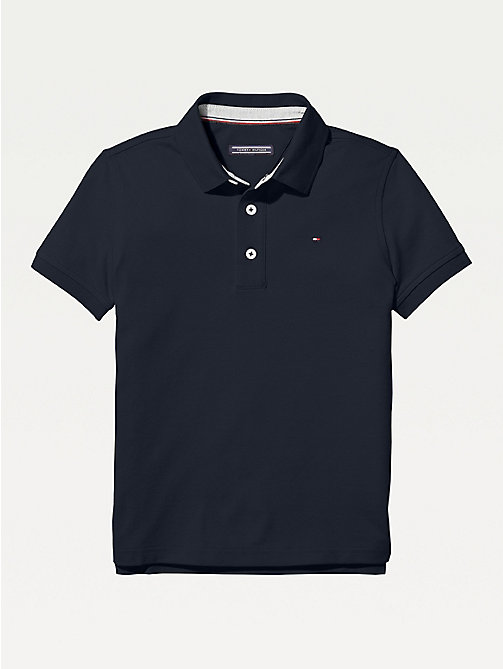 TOMMY HILFIGER Organic Cotton Polo Shirt - SKY CAPTAIN - TOMMY HILFIGER T-shirts & Polos - main image
