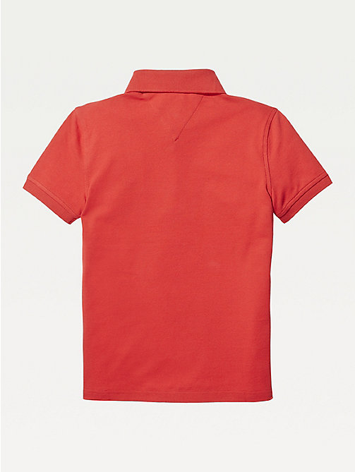 TOMMY HILFIGER Organic Cotton Polo Shirt - APPLE RED - TOMMY HILFIGER T-shirts & Polos - detail image 1