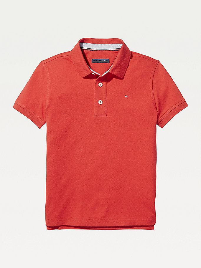 TOMMY HILFIGER Organic Cotton Polo Shirt - GREY HEATHER - TOMMY HILFIGER Kids - main image