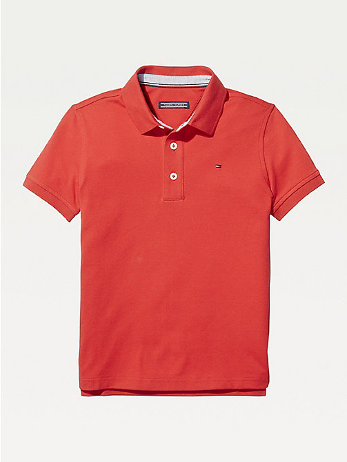 TOMMY HILFIGER Organic Cotton Polo Shirt - APPLE RED - TOMMY HILFIGER T-shirts & Polos - main image