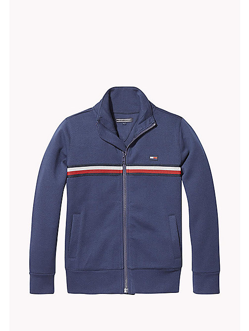 TOMMY HILFIGER Signature Stripe Tracksuit Top - BLACK IRIS - TOMMY HILFIGER Sweatshirts & Hoodies - main image