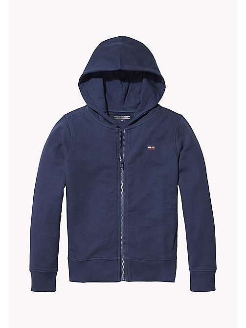 TOMMY HILFIGER Repeat Logo Hoodie - BLACK IRIS - TOMMY HILFIGER Boys - main image