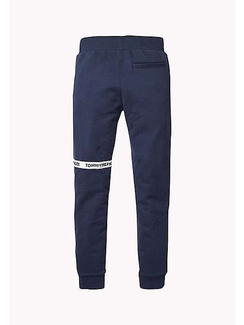 TOMMY HILFIGER Logo-Tape Cotton Jogging Bottoms - BLACK IRIS - TOMMY HILFIGER Trousers & Shorts - detail image 1