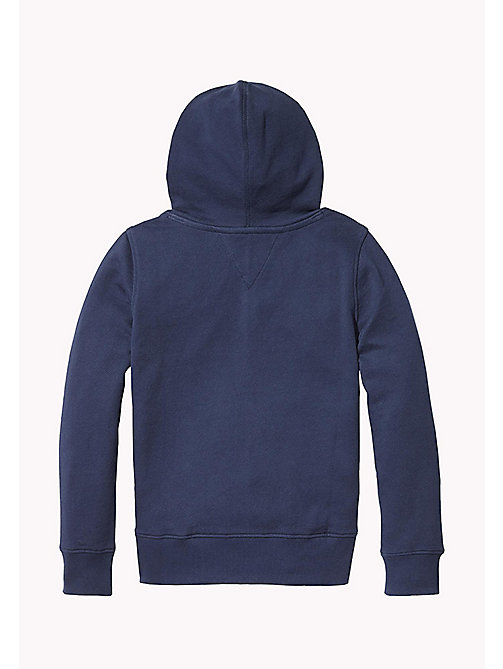 TOMMY HILFIGER Pure Cotton Logo Hoodie - BLACK IRIS - TOMMY HILFIGER Boys - detail image 1