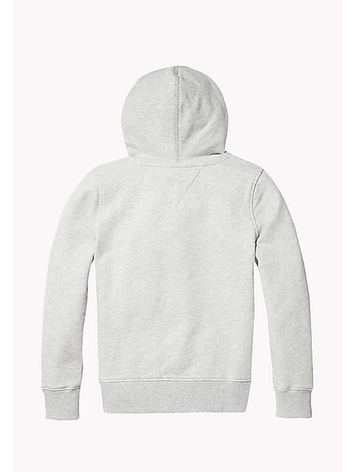 TOMMY HILFIGER Pure Cotton Logo Hoodie - LIGHT GREY HTR - TOMMY HILFIGER Sweatshirts & Hoodies - detail image 1