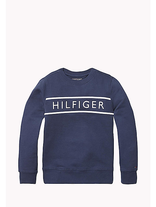 TOMMY HILFIGER 3D Embroidery Logo Sweatshirt - BLACK IRIS - TOMMY HILFIGER Sweatshirts & Hoodies - main image