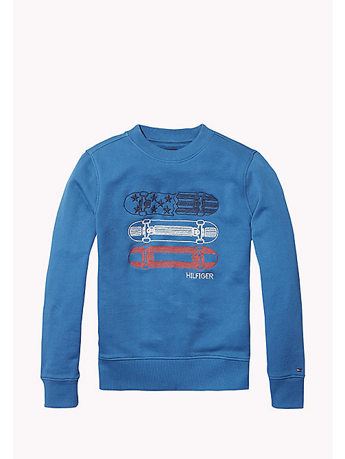 TOMMY HILFIGER 3D Embroidery Logo Sweatshirt - BLUE SAPPHIRE - TOMMY HILFIGER Sweatshirts & Hoodies - main image