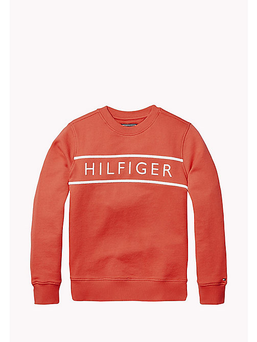 TOMMY HILFIGER 3D Embroidery Logo Sweatshirt - LOLLIPOP - TOMMY HILFIGER Sweatshirts & Hoodies - main image