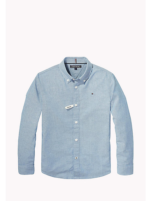 TOMMY HILFIGER Stretch Chambray Shirt - BLUE SAPPHIRE - TOMMY HILFIGER Boys - main image