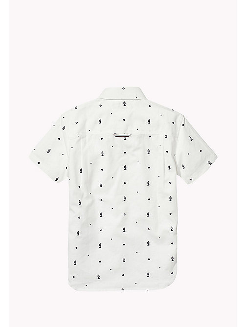 TOMMY HILFIGER Cactus Print Shirt - BRIGHT WHITE / BLACK IRIS - TOMMY HILFIGER Boys - detail image 1