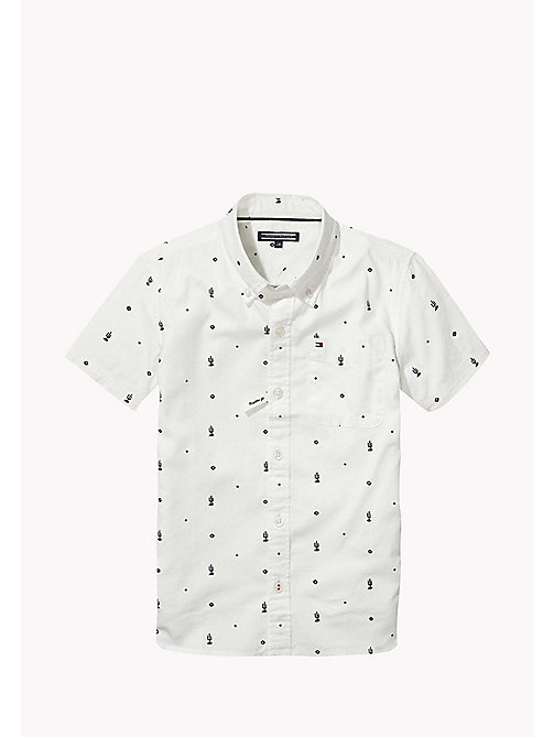 TOMMY HILFIGER Cactus Print Shirt - BRIGHT WHITE / BLACK IRIS - TOMMY HILFIGER Boys - main image