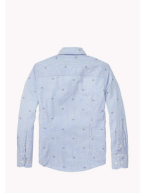 TOMMY HILFIGER Oxford Stripe And Flag Print Shirt - SHIRT BLUE - TOMMY HILFIGER Shirts - detail image 1