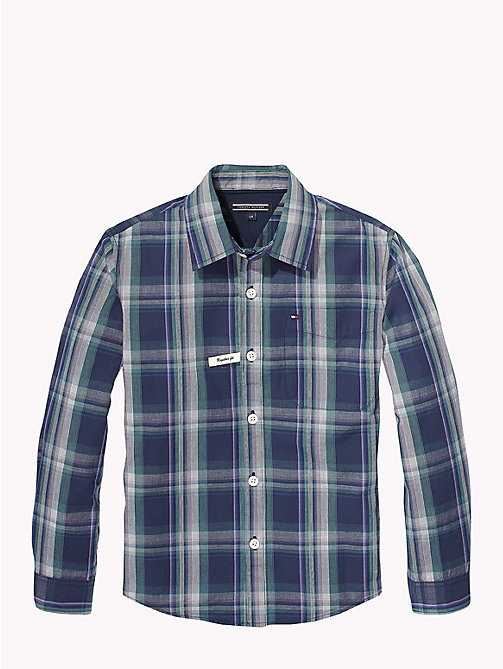 TOMMY HILFIGER Cotton Window Pane Check Shirt - BLACK IRIS MULTI - TOMMY HILFIGER Shirts - detail image 1