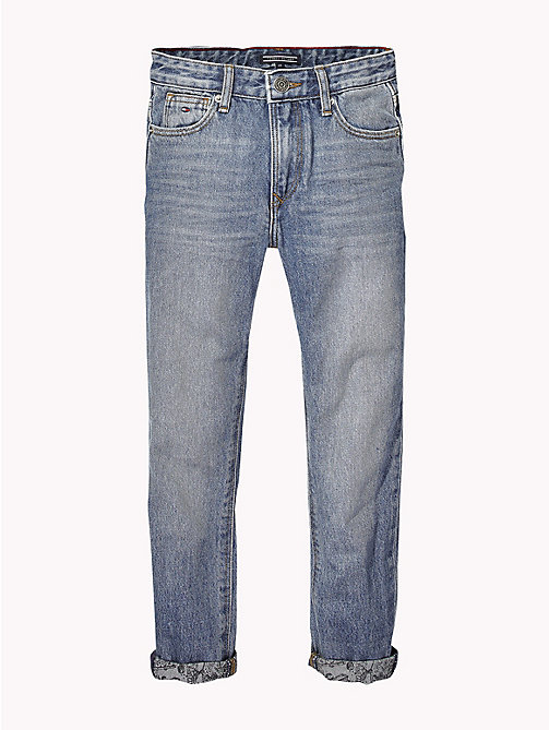 TOMMY HILFIGER Turn Up Faded Jeans - AUTHENTIC MID BLUE RIGID - TOMMY HILFIGER Jeans - main image