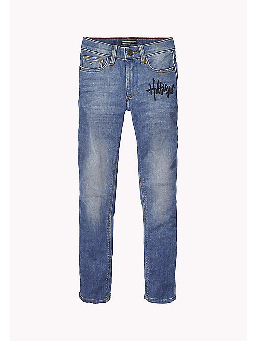 TOMMY HILFIGER Embroidered Logo Jeans - PHOENIX FRESH BLUE STRETCH - TOMMY HILFIGER Jeans - main image