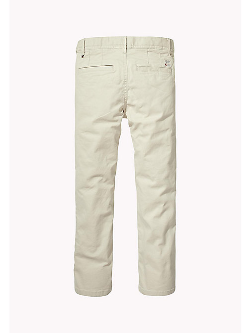TOMMY HILFIGER Organic Cotton Slim Fit Chinos - PUMICE STONE - TOMMY HILFIGER Trousers & Shorts - detail image 1