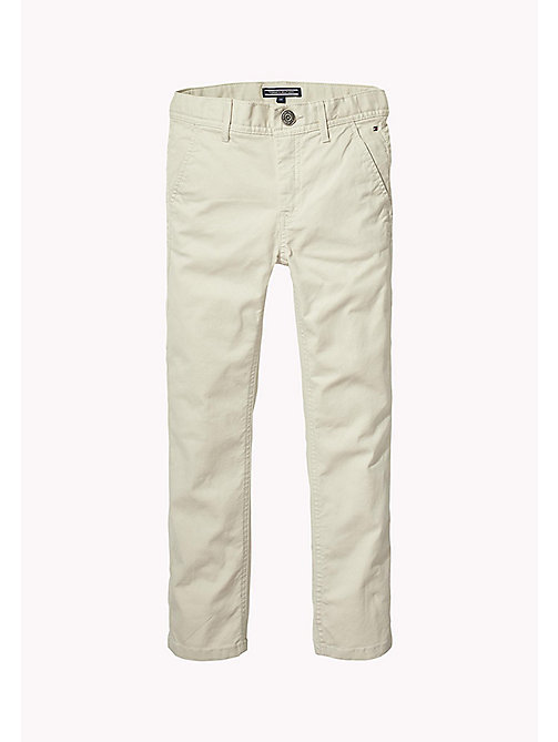 TOMMY HILFIGER Organic Cotton Slim Fit Chinos - PUMICE STONE - TOMMY HILFIGER Trousers & Shorts - main image