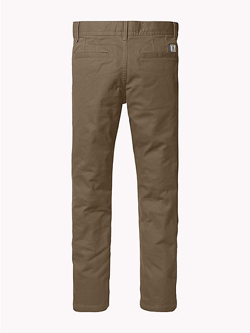 TOMMY HILFIGER Organic Cotton Slim Fit Chinos - WALNUT - TOMMY HILFIGER Trousers & Shorts - detail image 1