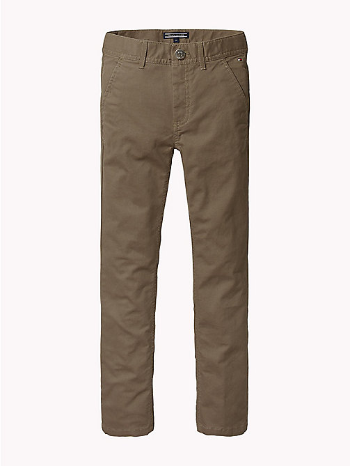 TOMMY HILFIGER Organic Cotton Slim Fit Chinos - WALNUT - TOMMY HILFIGER Trousers & Shorts - main image