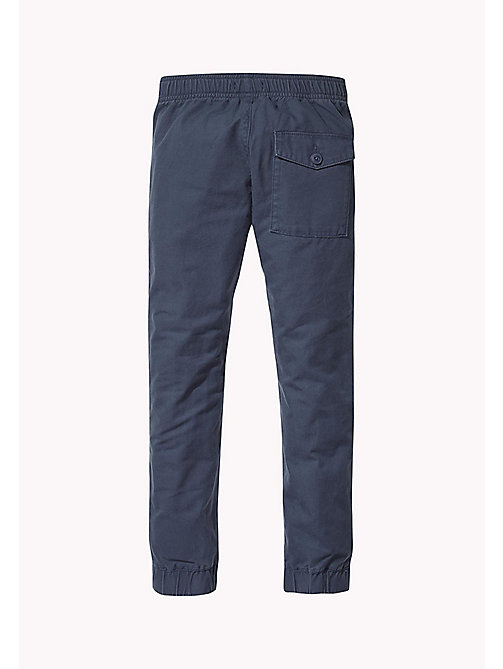 TOMMY HILFIGER Signature Drawstring Chino Joggers - BLACK IRIS - TOMMY HILFIGER Trousers & Shorts - detail image 1