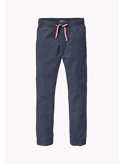 TOMMY HILFIGER Signature Drawstring Chino Joggers - BLACK IRIS - TOMMY HILFIGER Trousers & Shorts - main image