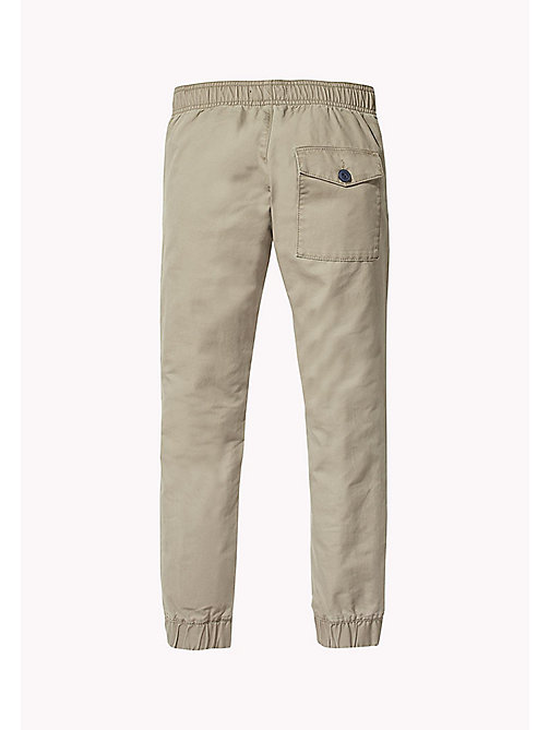 TOMMY HILFIGER Signature Drawstring Chino Joggers - WALNUT - TOMMY HILFIGER Trousers & Shorts - detail image 1