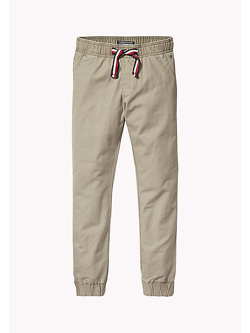 TOMMY HILFIGER Signature Drawstring Chino Joggers - WALNUT - TOMMY HILFIGER Trousers & Shorts - main image