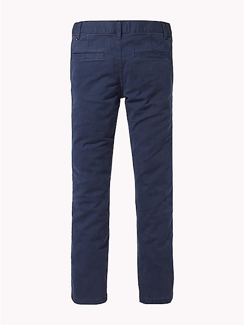 TOMMY HILFIGER Organic Cotton Skinny Fit Chinos - BLACK IRIS - TOMMY HILFIGER Trousers & Shorts - detail image 1