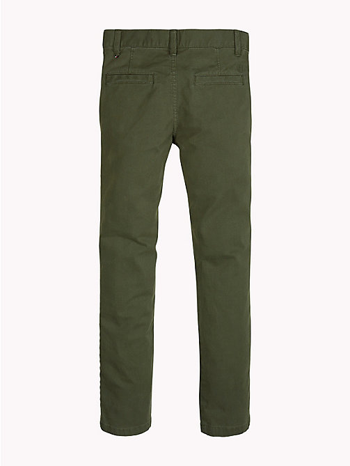 TOMMY HILFIGER Organic Cotton Skinny Fit Chinos - FOREST NIGHT - TOMMY HILFIGER Trousers & Shorts - detail image 1