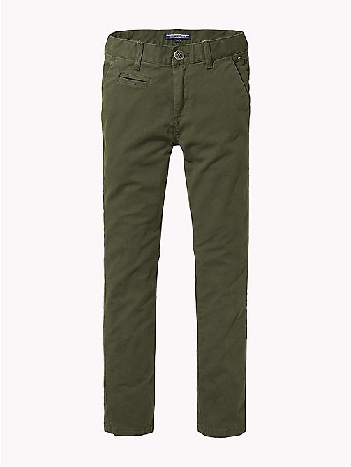 TOMMY HILFIGER Organic Cotton Skinny Fit Chinos - FOREST NIGHT - TOMMY HILFIGER Trousers & Shorts - main image