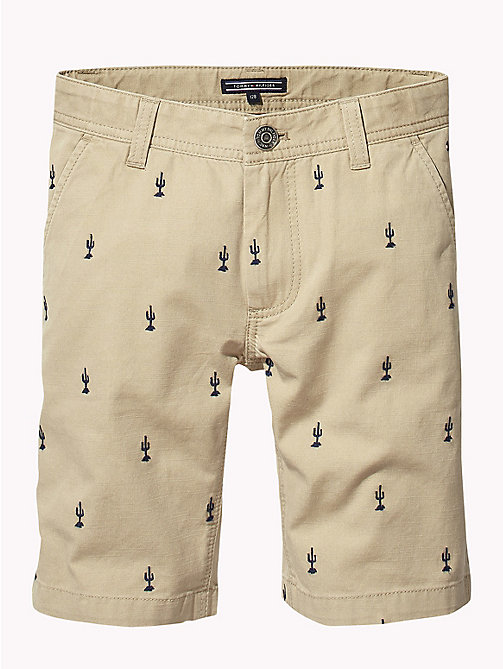 TOMMY HILFIGER Cactus Embroidered Shorts - TRAVERTINE/BLACK IRIS - TOMMY HILFIGER Boys - detail image 1