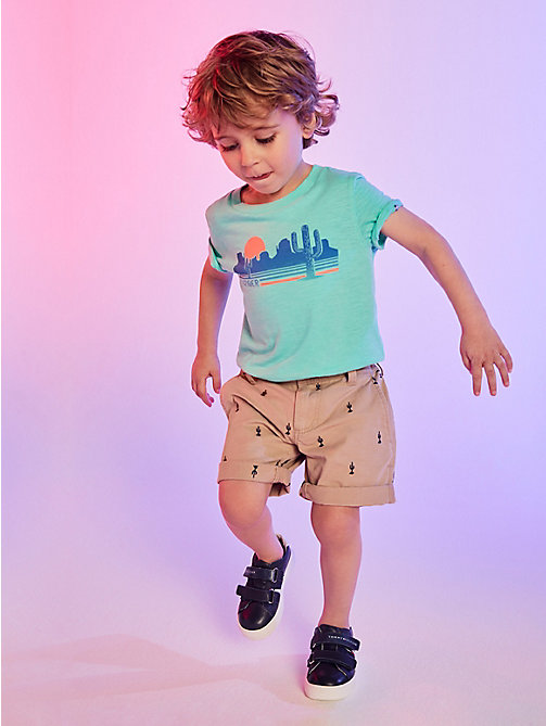 TOMMY HILFIGER Cactus Embroidered Shorts - TRAVERTINE/BLACK IRIS - TOMMY HILFIGER Boys - main image