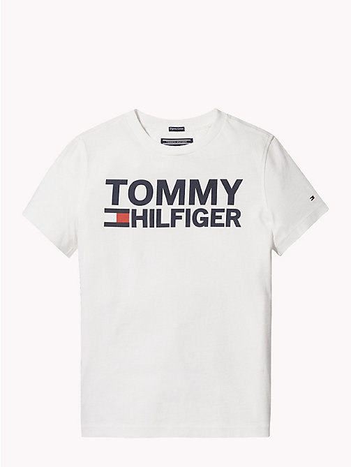 TOMMY HILFIGER Organic Cotton Logo T-Shirt - BRIGHT WHITE - TOMMY HILFIGER T-shirts & Polos - main image