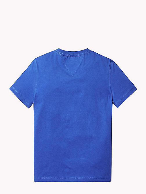TOMMY HILFIGER Organic Cotton Logo T-Shirt - OLYMPIAN BLUE - TOMMY HILFIGER T-shirts & Polos - detail image 1