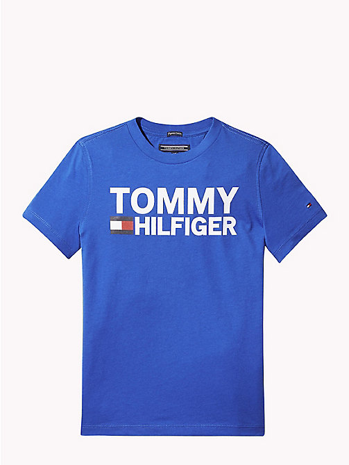 TOMMY HILFIGER Organic Cotton Logo T-Shirt - OLYMPIAN BLUE - TOMMY HILFIGER T-shirts & Polos - main image