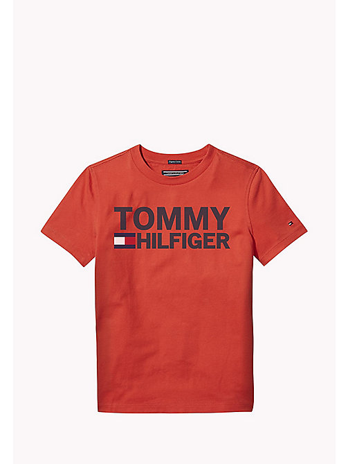 TOMMY HILFIGER Organic Cotton Logo T-Shirt - LOLLIPOP - TOMMY HILFIGER Boys - main image